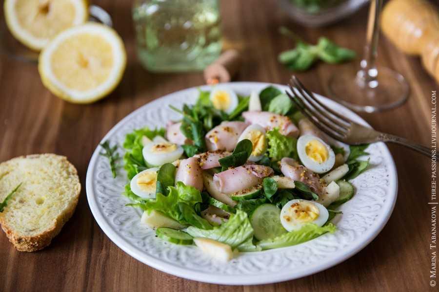 Салат с кальмарами и огурцами - 27 рецептов приготовления пошагово - 1000.menu