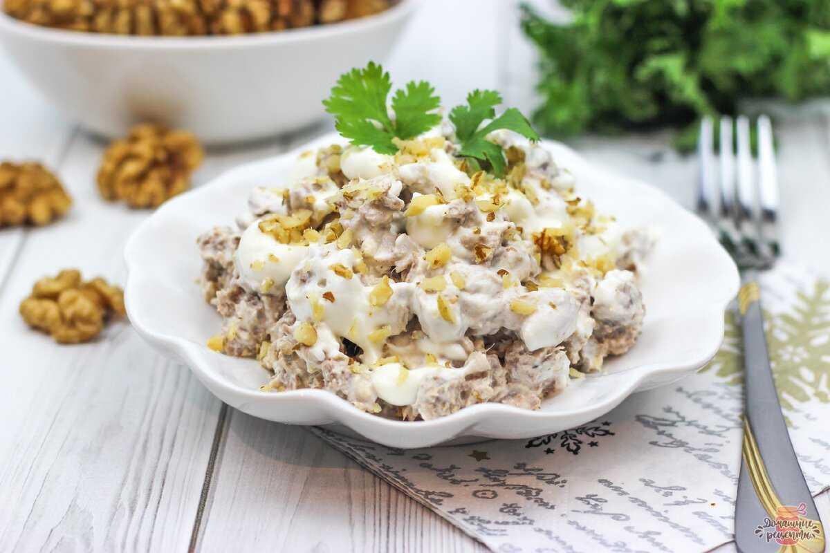 Диетический салат с говядиной: варианты низкокалорийных рецептов мясных салатиков