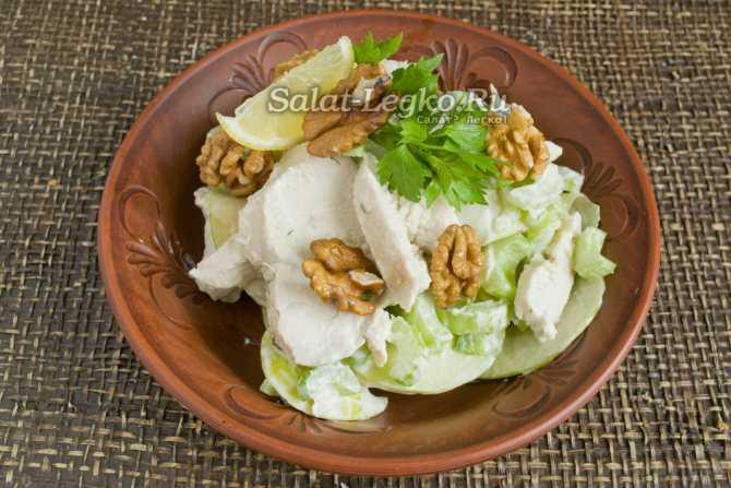7 рецептов салата с сельдереем стеблевым: с яблоком, курицей, огурцом, морковью и др.