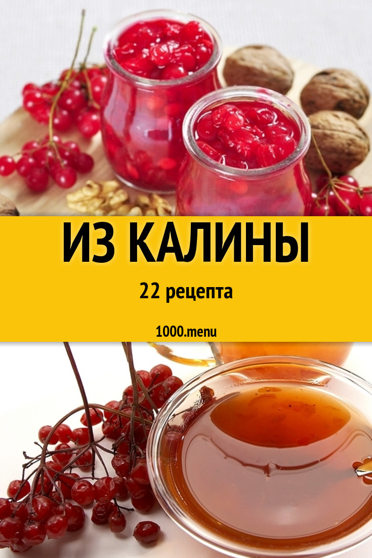 Калина на зиму - 13 лучших рецептов заготовки