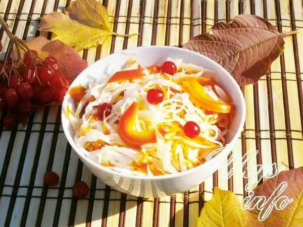 Квашеная капуста с болгарским перцем и тмином без уксуса рецепт с фото пошагово - 1000.menu
