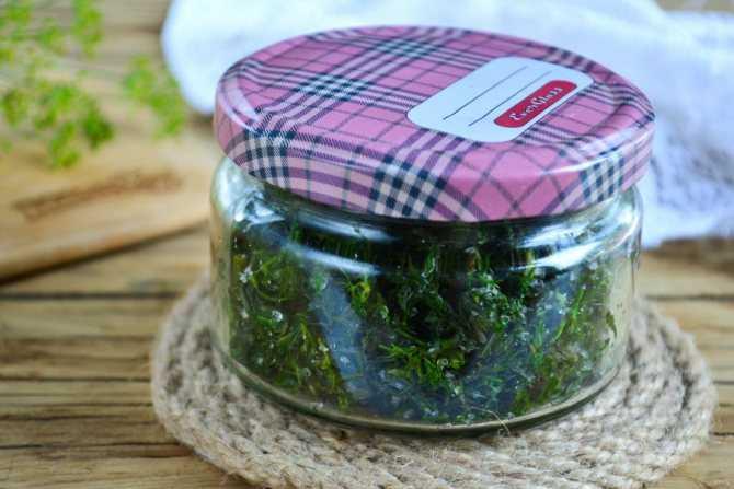Зелень с солью на зиму - 6 пошаговых фото в рецепте