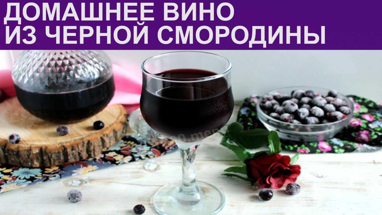 Смородиновое вино – рецепты приготовления из красной и черной ягоды