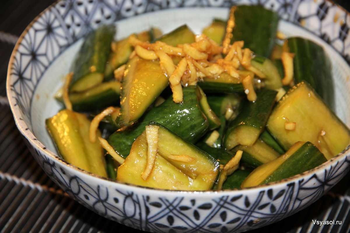 Битые огурцы — 6 рецептов китайской кухни