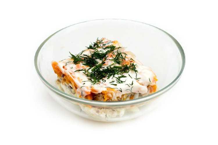 Салат мимоза с горбушей – пошаговый классический рецепт с фото