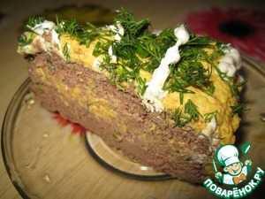 Печеночный торт из говяжьей печени с луком, морковью - пошаговый рецепт с фото и видео
