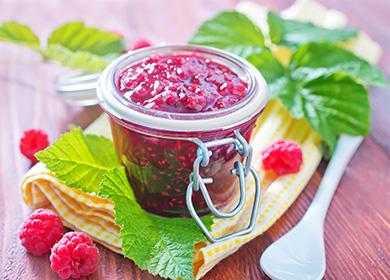 Малиновый джем из одной лишь малины. 5 рецептов приготовления варенья без сахара