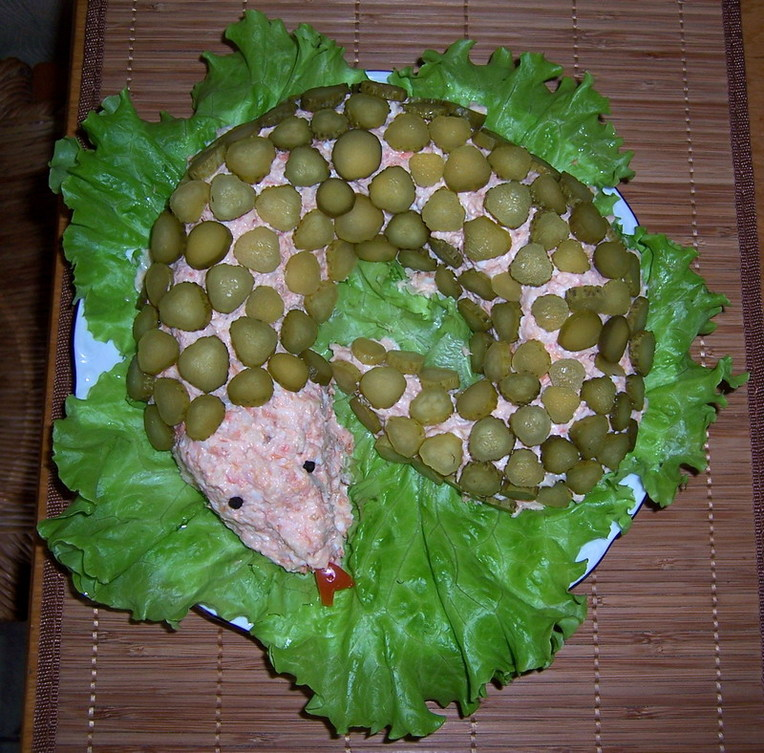 Рецепты салат змея