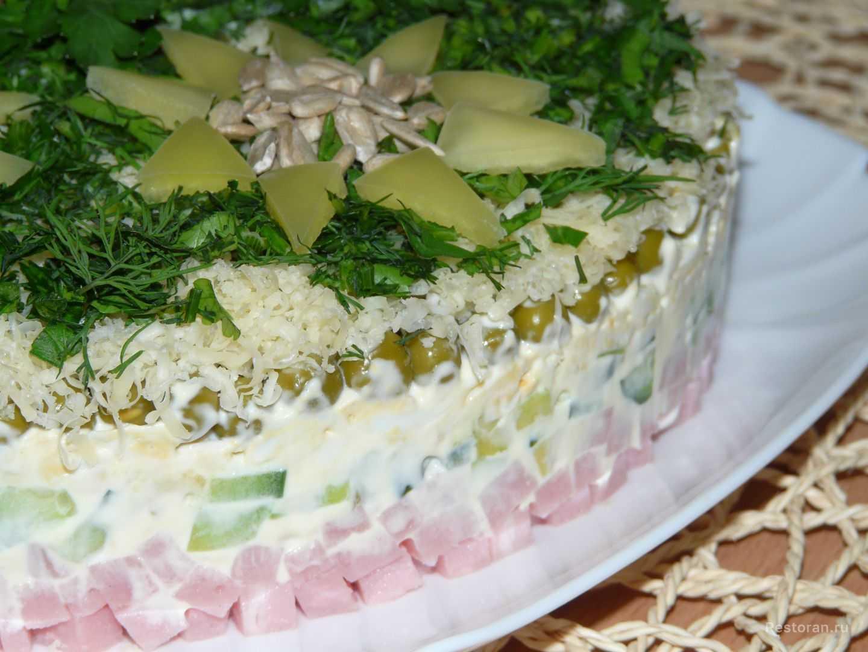 Ветчина грибы салат: рецепт