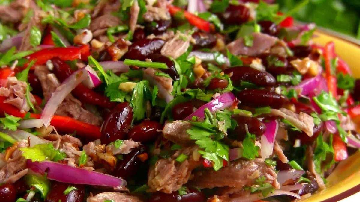 Рецепт приготовления салата тбилиси с фото