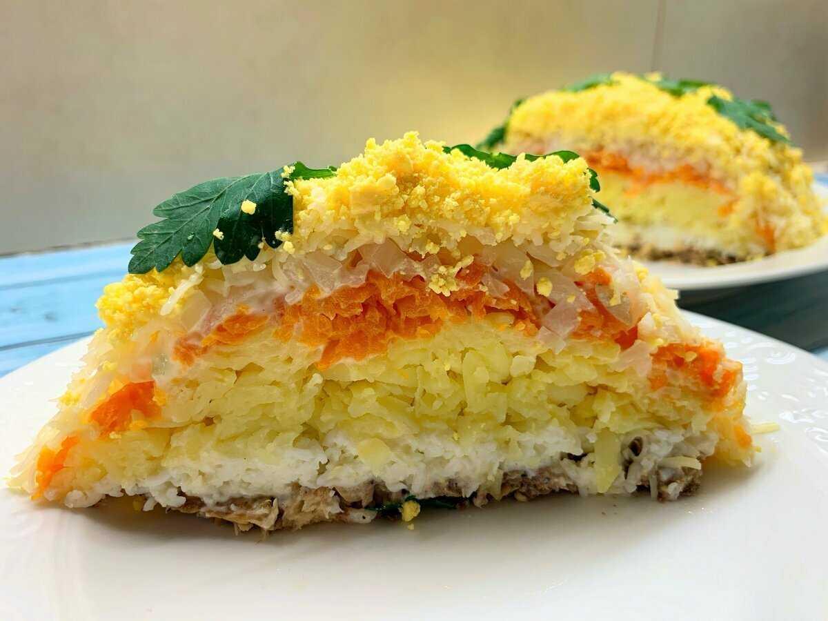 Салат мимоза классическая с лососем рецепт с фото пошагово - 1000.menu