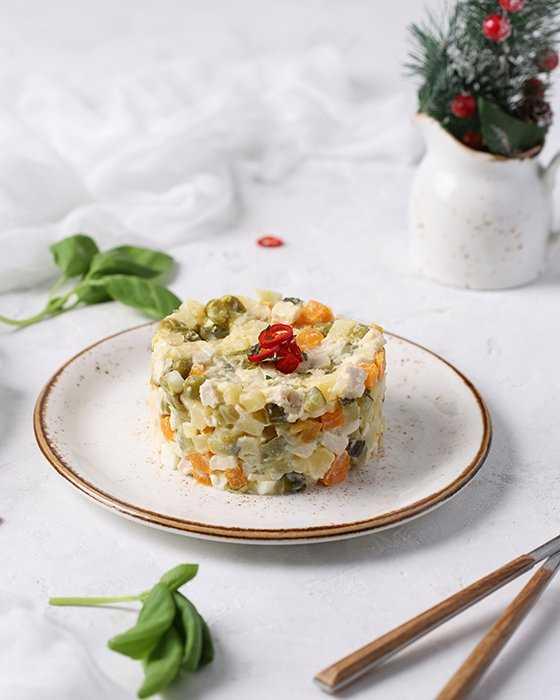 Зимний салат оливье — домашние рецепты праздничного салата