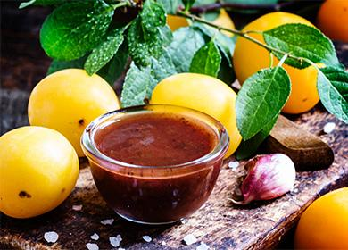 Ткемали из желтых слив - азербайджанская кухня - страна мам