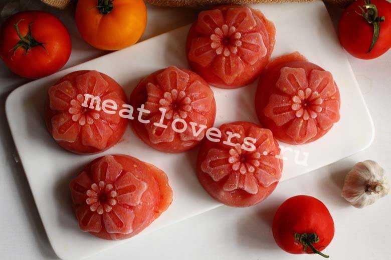 Как замораживать помидоры в морозилке: рецепты заморозки свежих товатов в домашних условиях