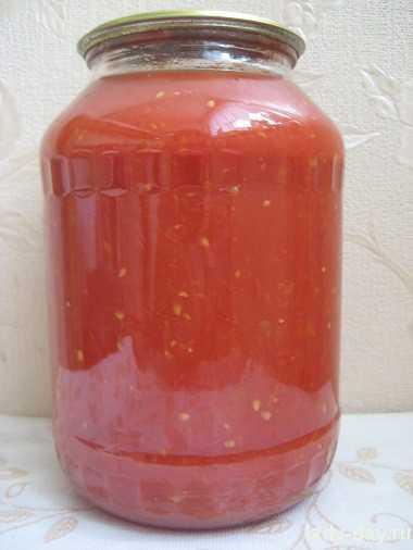 Томатный сок на зиму на мясорубке