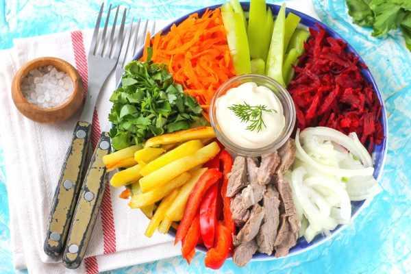 Пошаговый рецепт приготовления классического салата чафан
