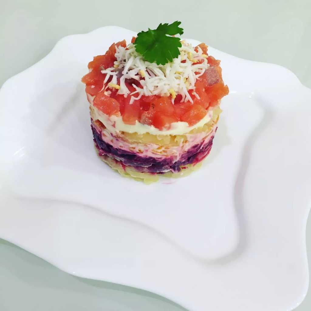 Салат семга на шубе
