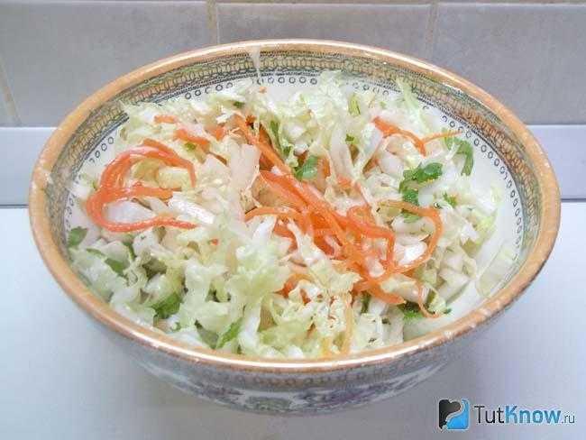 Как приготовить салат с пекинской капустой, ветчиной и корейской морковью: поиск по ингредиентам, советы, отзывы, пошаговые фото, подсчет калорий, изменение порций, похожие рецепты