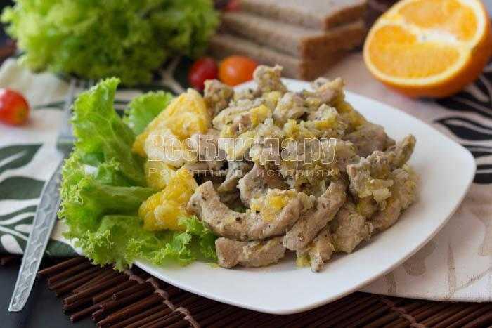 Свинина с апельсинами и сыром в духовке рецепт с фото пошагово - 1000.menu