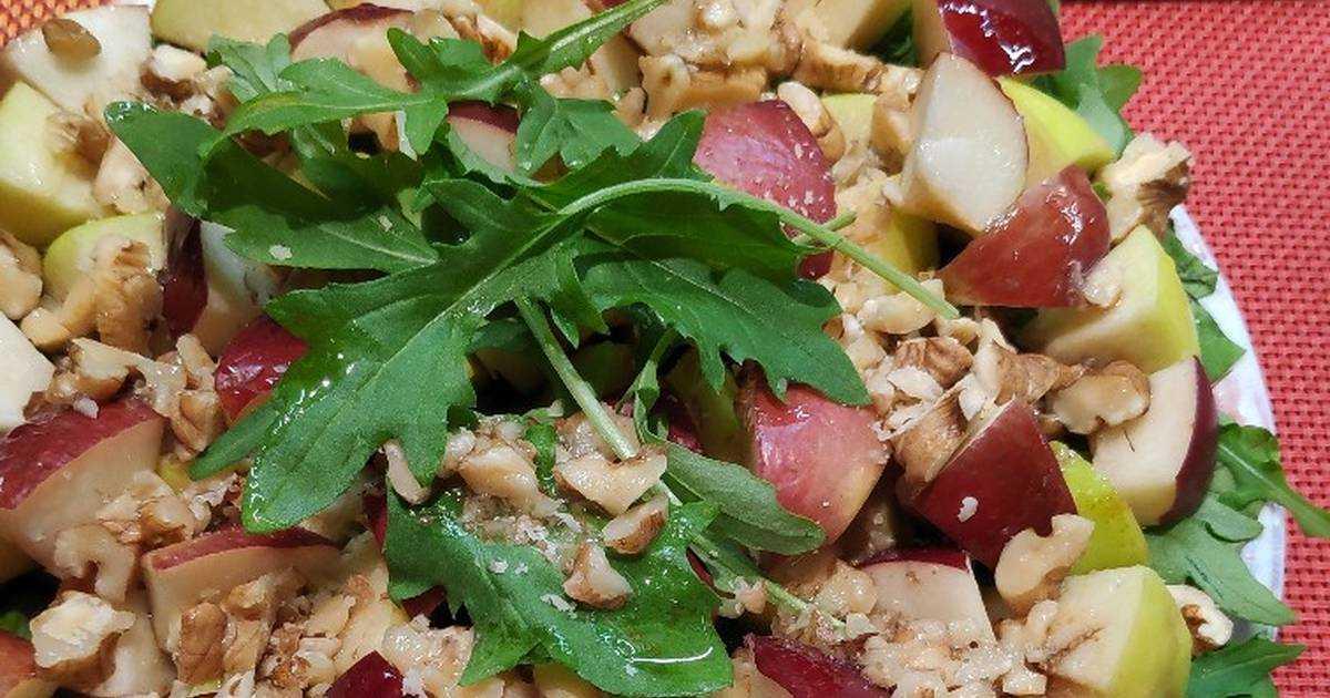 Фруктовый салат из бананов и яблок рецепт с фото пошагово - 1000.menu