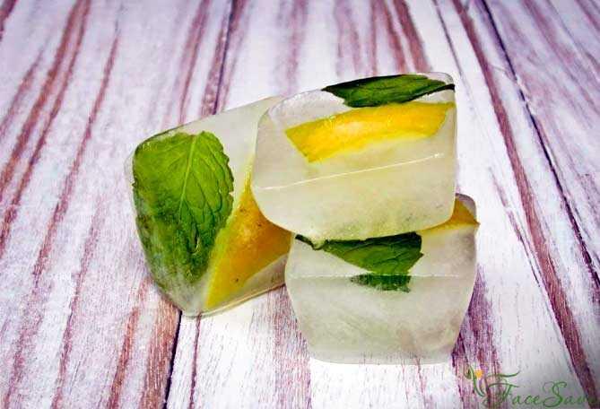 Особенности умывания льдом: польза и вред умывания по утрам для лица. кубики льда с ромашкой и другие рецепты