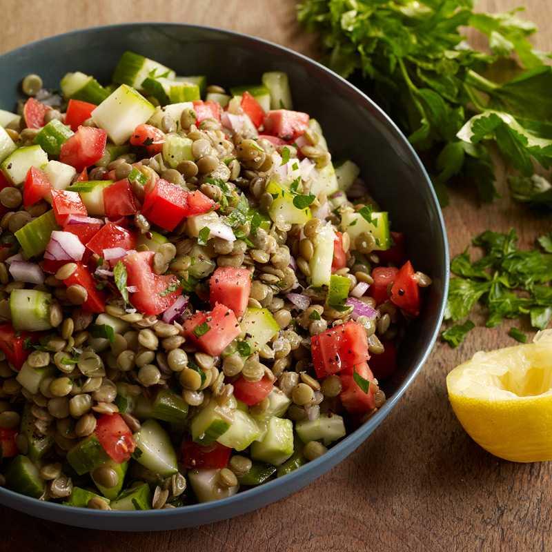 Салат с чечевицей – что ещё нужно для счастья? самые вкусные, оригинальные и полезные рецепты салата с чечевицей