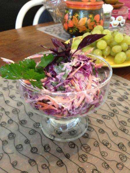 Как приготовить салат из красной капусты, лука, моркови, перца и майонеза: поиск по ингредиентам, советы, отзывы, пошаговые фото, подсчет калорий, изменение порций, похожие рецепты