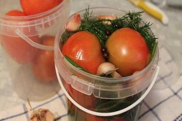 Засолка помидоров холодным способом в ведре: простые рецепты
