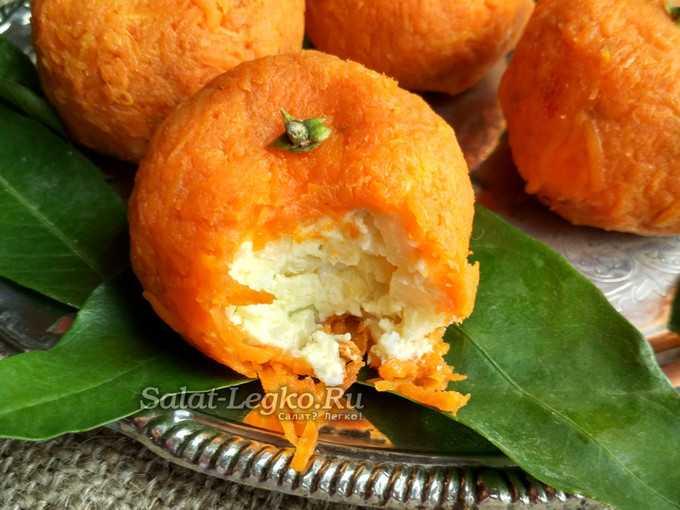 Закуска мандаринки: пошаговый рецепт с фото