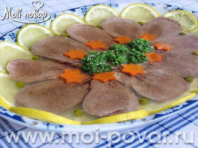 Заливное из языка свиного рецепт с фото