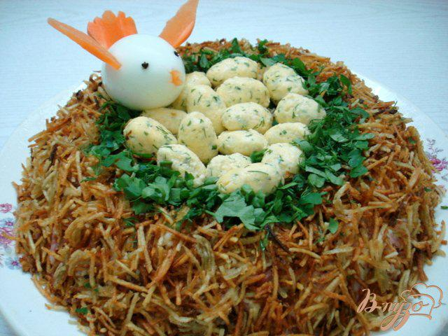 Салат перепелиное гнездо - рецепт с фото. украшение любого праздничного стола | народные знания от кравченко анатолия