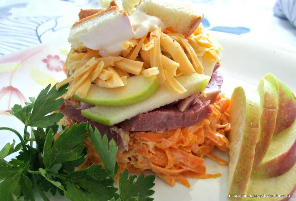 Готовим салат дамский каприз из свиного языка с ветчиной: поиск по ингредиентам, советы, отзывы, пошаговые фото, подсчет калорий, удобная печать, изменение порций, похожие рецепты