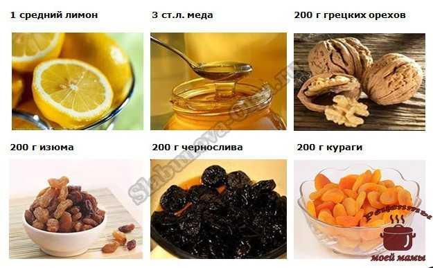 Смесь из сухофруктов с медом, орехами, лимоном   kazandoctor.ru