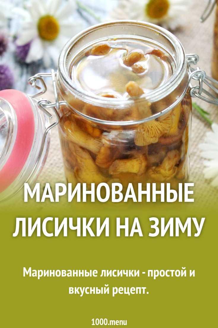 Грибы лисички на зиму – рецепты приготовления