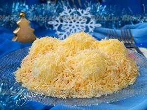 Салат сугроб - удивит изысканным вкусом: рецепт с фото и видео