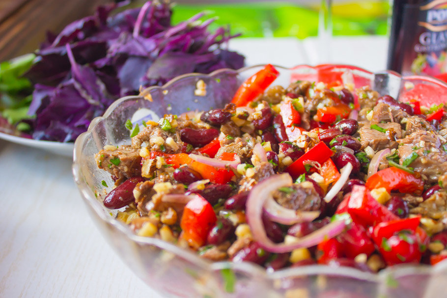 10 лучших рецептов салатов с гранатом: гармония красоты и вкусовых качеств