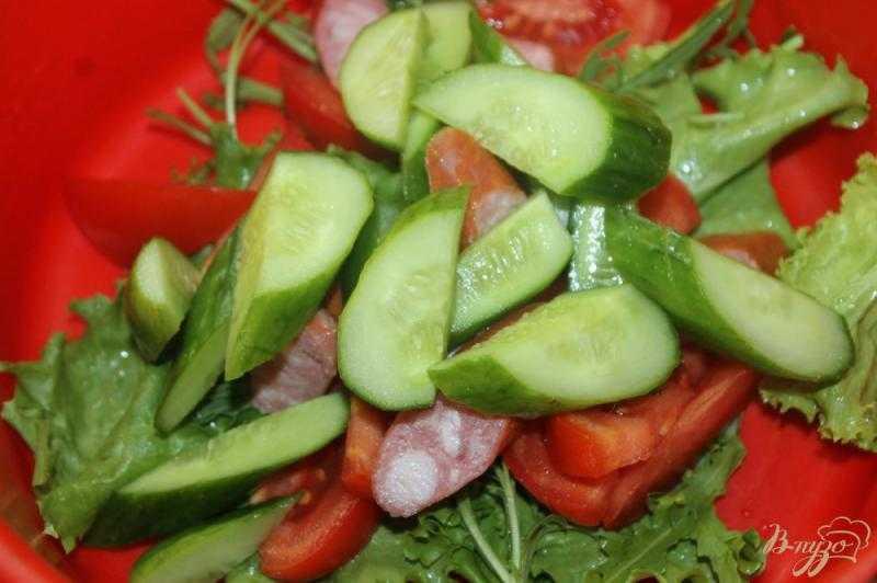 Салат с охотничьими колбасками и фасолью рецепт с фото - 1000.menu