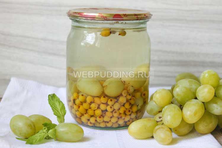 Простые рецепты приготовления компота из винограда на зиму на 1-3 литровую банку
