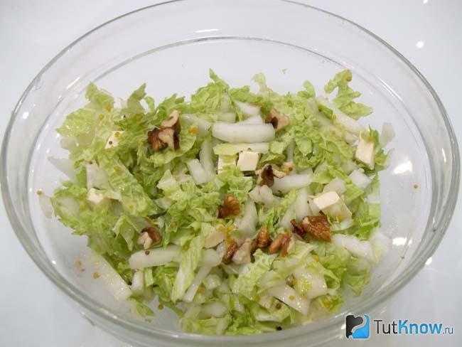 Салат с капустой и грецкими орехами рецепт с фото пошагово - 1000.menu