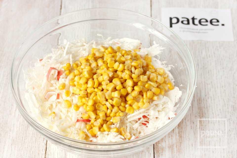 Салат с китайской капустой и кукурузой рецепт с фото - 1000.menu