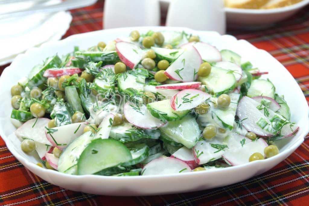Салат с зеленым горошком консервированным. 9 очень вкусных рецептов
