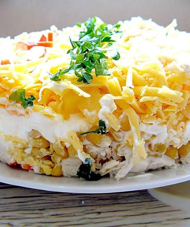 Салат с курицей, ананасом, сыром – 10 пошаговых рецептов с фото