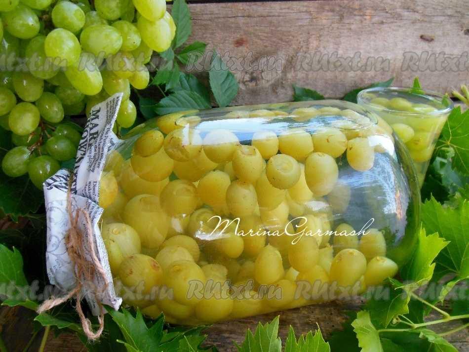 Компот из винограда: популярные рецепты приготовления