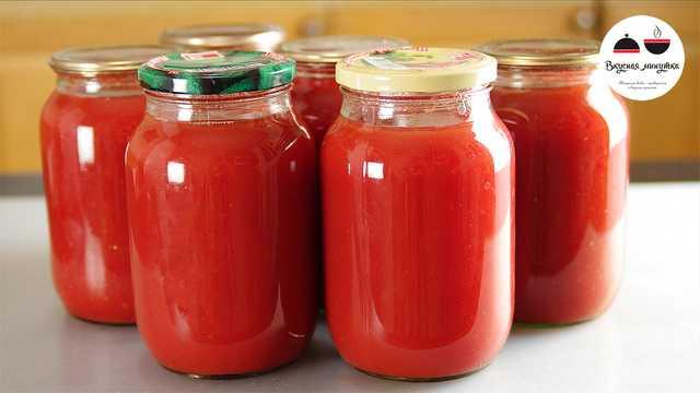 Томатный сок на зиму в домашних условиях без стерилизации