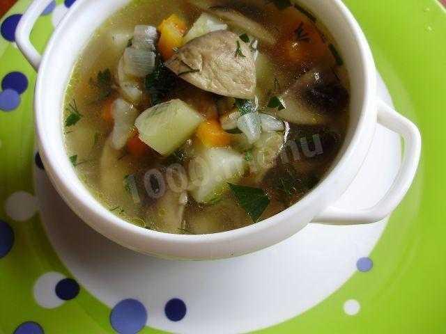 Суп из замороженных грибов с вермишелью пошаговый рецепт