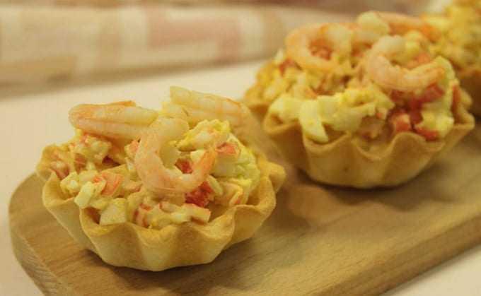 Самые вкусные тарталетки с красной икрой - простые рецепты с фото на праздничный стол