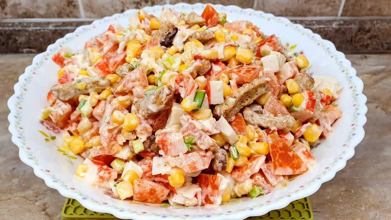 Салат с кириешками и курицей рецепт с фото пошагово - 1000.menu
