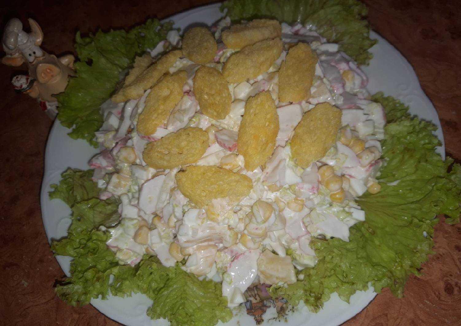 Салат с крабовыми палочками и ананасом - рецепт с пошаговыми фото   ne-dieta