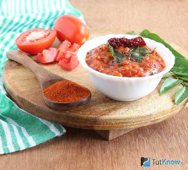Острый соус из перца чили и томатов рецепт с фото
