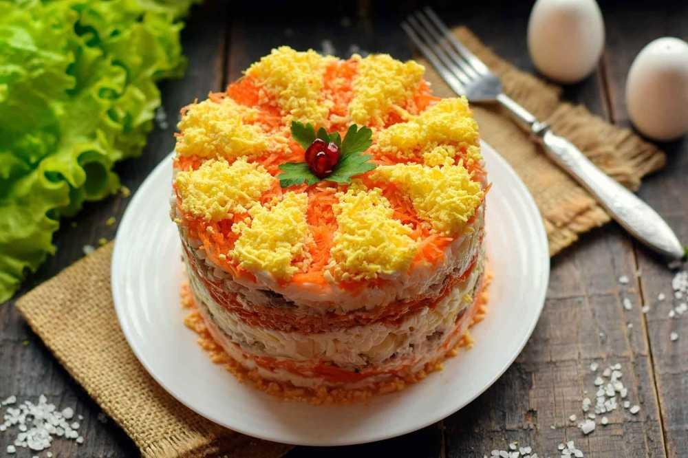 """Салат """"мимоза"""" как приготовить с лососем вкусно и просто"""